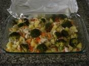 Fırında Tavuklu Brokoli