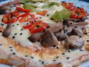 İtalyan Omlet (Dolmalık Biberli, Mantarlı ve Çörek Otlu)