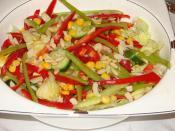 Jülyen Biberli Yeşil Salata (Çam Fıstıklı, Kırık Badem)