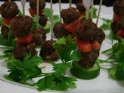 Cocktail Meatballs Canapes Recipe