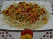 Kremalı Biber Soslu Spagetti