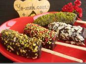 Çikolata Kaplı Muz Çubukları