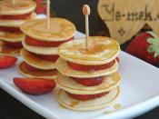 Mini Pancakes With Strawberries Recipe