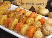 Fried Fresh Potato Skewers Recipe