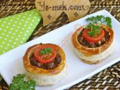 Minced Meat Filled Volovants (Vol au Vents) Recipe