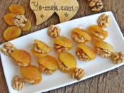 Hurma With Almond Dried Apricots With Walnut Recipe