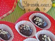 Bademli Çikolatalı Hurma Tatlısı