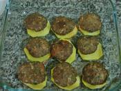 Fırında Kaşarlı Köfte Ve Patates