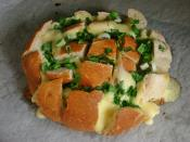 Baked Bread With Cheese And Fresh Onion Recipe