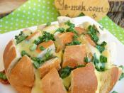 Fırında Taze Soğanlı Kaşarlı Ekmek