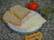 Fesleğenli Domatesli Ekmek Dilimleri