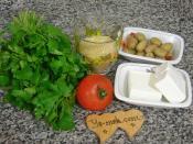 Zeytinli Peynirli Bulgur Salatası