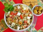 Zeytnli Peynirli Bulgur Salatasıi
