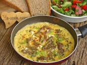 Kavurmalı Omlet