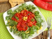 Közlenmiş Kırmızı Biberli Semizotu Salatası