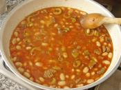 Dry Bean With Meat Recipe