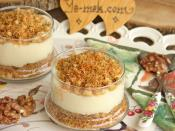 Shredded Wheat Dessert with Pudding in Cups