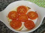 Fırında Kahvaltılık Domates Dilimleri
