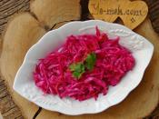 Sirkeli Kırmızı Lahana Salatası