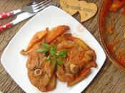 Fırında Patatesli Et Yemeği