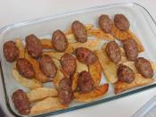 Fırında Salçalı Patatesli Köfte