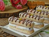 Hindistan Cevizli Kedi Dili Ekler Pasta