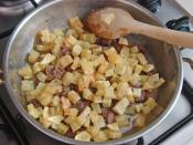 Patatesli Kavurmalı Yumurta