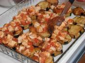 Tavuklu Patlıcan Oturtma