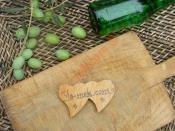 Ev Yapımı Kırma Taze Yeşil Zeytin
