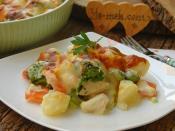 Fırında Beşamel Soslu Tavuklu Brokoli