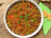 Fırında Bezelyeli Patlıcan Kebabı