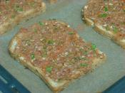 Fırında Kıymalı Ekmek Dilimleri