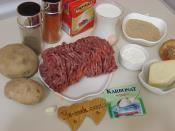 Fırında Kremalı Patates Püreli Köfte