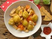 Tavuklu Brüksel Lahanası Yemeği