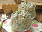 Yoğurtlu Bezelye Salatası