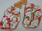 Mantarlı Ekmek Dilimleri