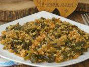 Bulgurlu Ispanak Yemeği