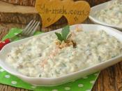 Labne Peynirli Köz Patlıcan Salatası