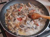 Kremalı Mantarlı Et Yemeği