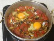 Kahvaltılık Sucuklu Mantarlı Yumurta