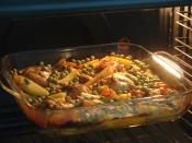 Fırında Sebzeli Tavuk Yemeği