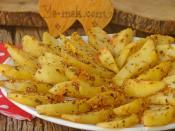 Fırında Susamlı Patates Kızartması