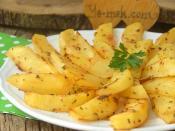 Fırında Yoğurtlu Patates Kızartması