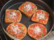 Fırında Kahvaltılık Ekmek Dilimleri