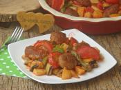 Fırında Köfteli Patlıcan Yemeği