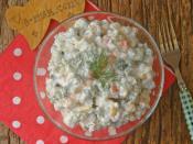 Mayonezli Garnitürlü Buğday Salatası