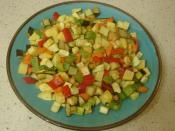 Kıymalı Sebze Kızartması