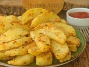 Fırında Mısır Unlu Patates Kızartması