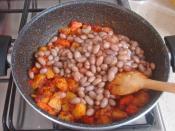 Patatesli Barbunya Yemeği