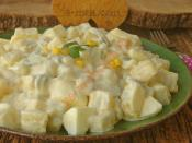 Yoğurtlu Yumurtalı Patates Salatası